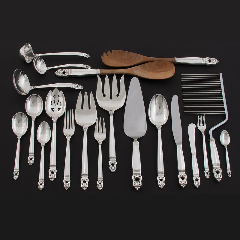 International Silver Co. Sterling Flatware Service, Royal Danish