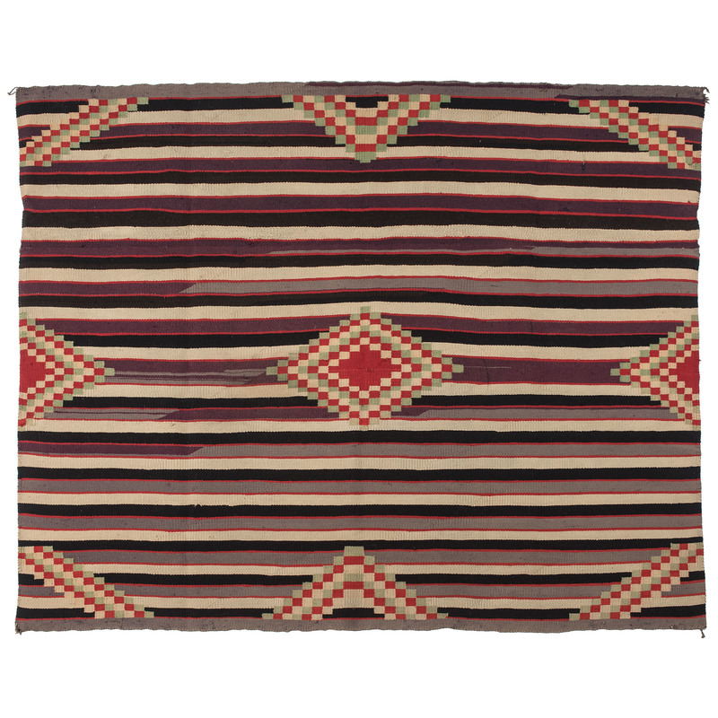 Navajo Germantown Third Phase Chief's Blanket / Rug, From The Harriet and Seymour Koenig Collection, NY