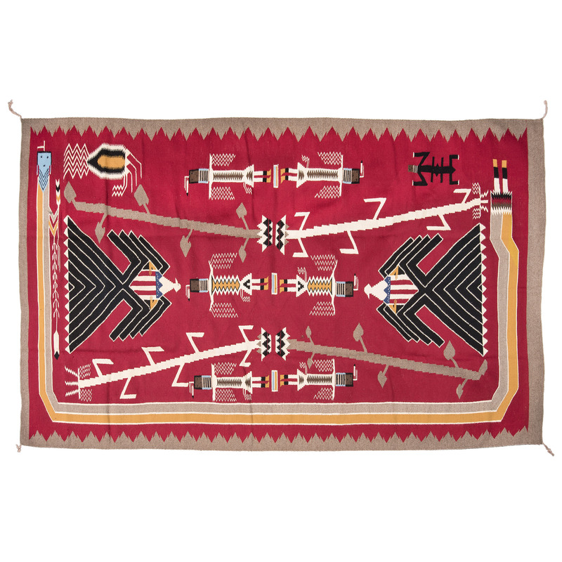 Navajo Pictorial Weaving / Rug, From The Harriet and Seymour Koenig Collection, NY