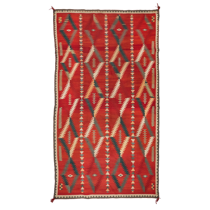 Navajo Germantown Weaving / Rug, From The Harriet and Seymour Koenig Collection, NY