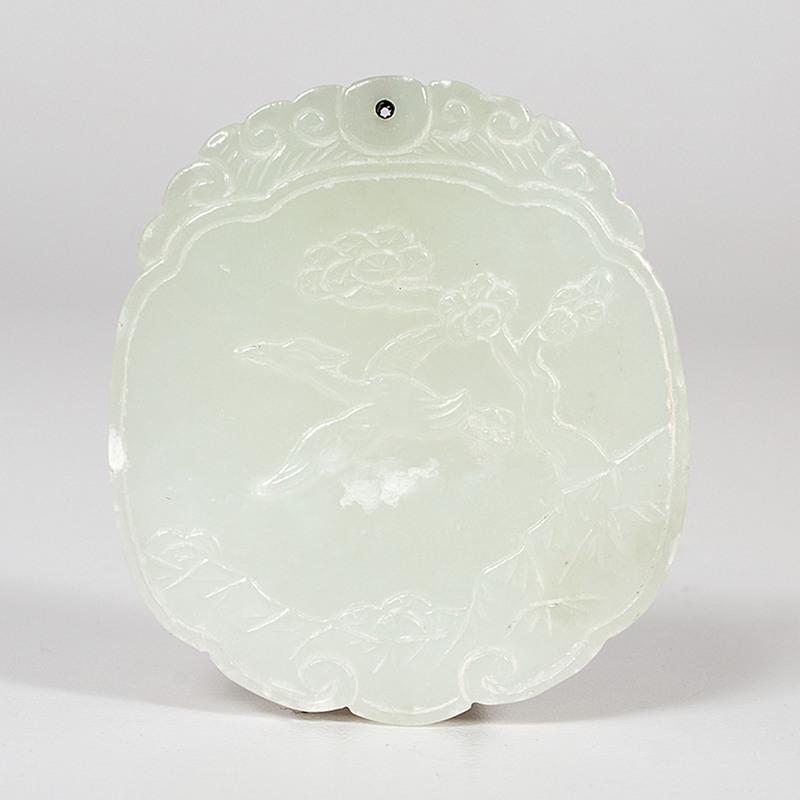 Chinese White Jade Pendent