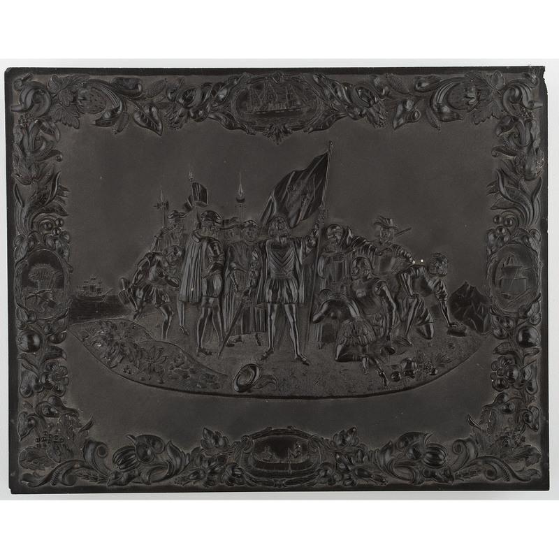 Rare Whole Plate Union Case, Landing of Columbus [Berg 1-1]