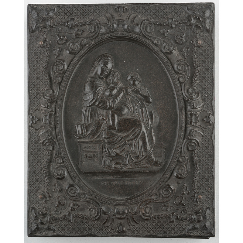 Very Rare Half Plate Union Case, The Holy Family, Black [Berg 1-8]