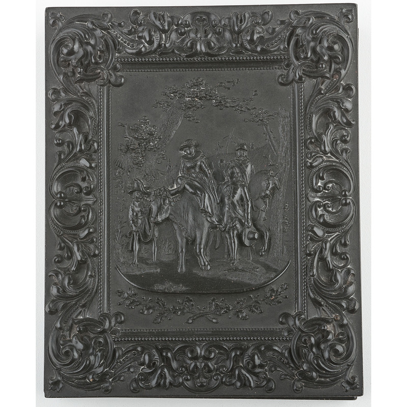 Scarce Half Plate Union Case, Wedding Procession, Black [Berg 1-10]