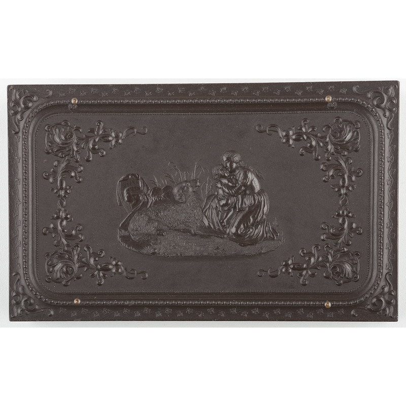 Double Sixth Plate Union Case Mother Embracing Child 2, Dark Brown [Berg 1-14]