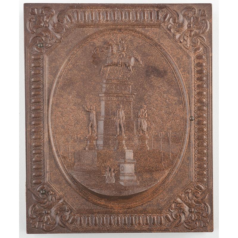 Scarce Quarter Plate Union Case, Washington Monument, Richmond, Va., Brown [Berg 1-17S/3-16]