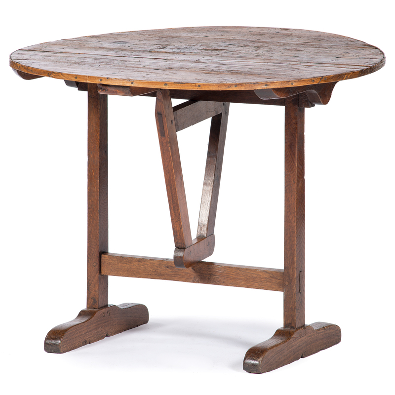 French Folding Wine Tasting Table