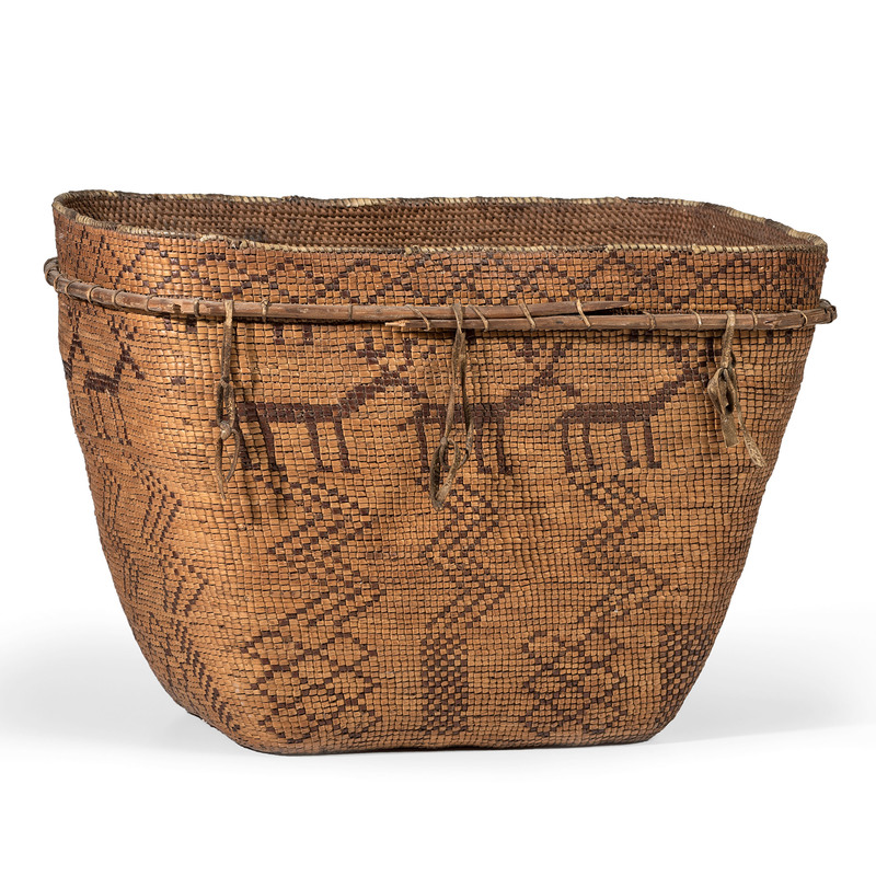Chilcotin Imbricated Pictorial Basket, From The Harriet and Seymour Koenig Collection, NY