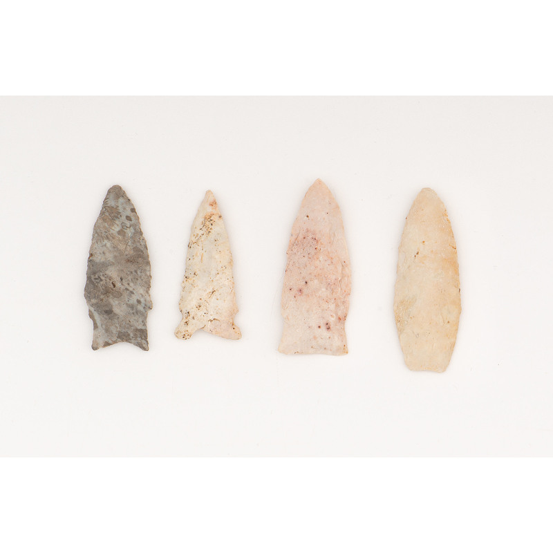 Four Paleo Points, From the Collection of Richard Bourn, Sr., Old Saybrook, Connecticut