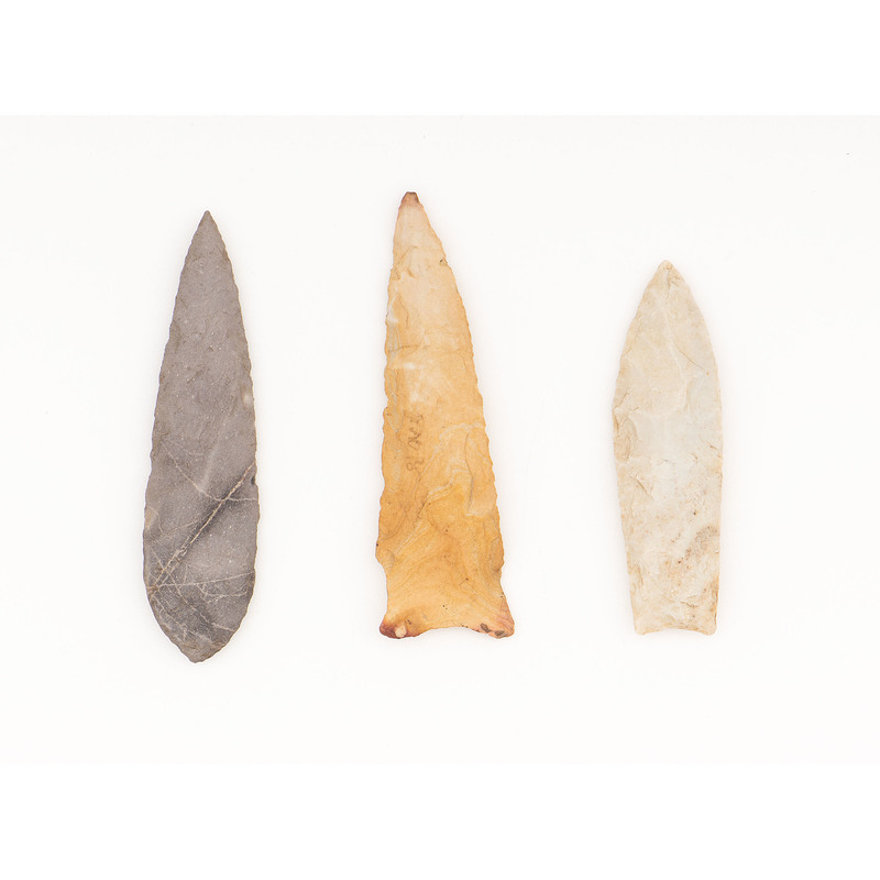 Three Paleo Points, From the Collection of Richard Bourn, Sr., Old Saybrook, Connecticut