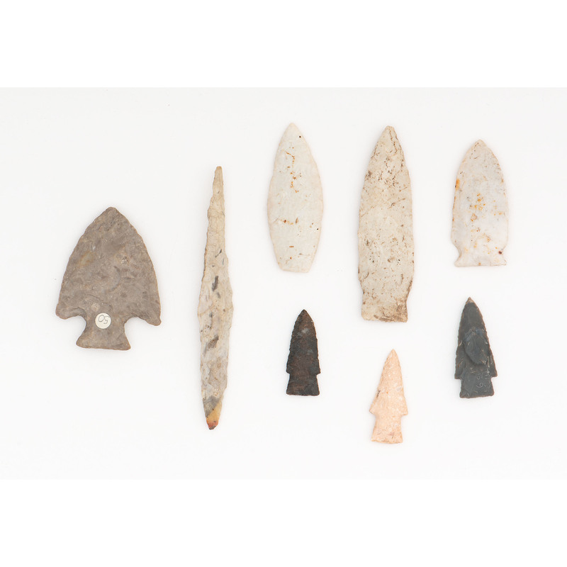 A Grouping of Flint Points, From the Collection of Richard Bourn, Sr., Old Saybrook, Connecticut