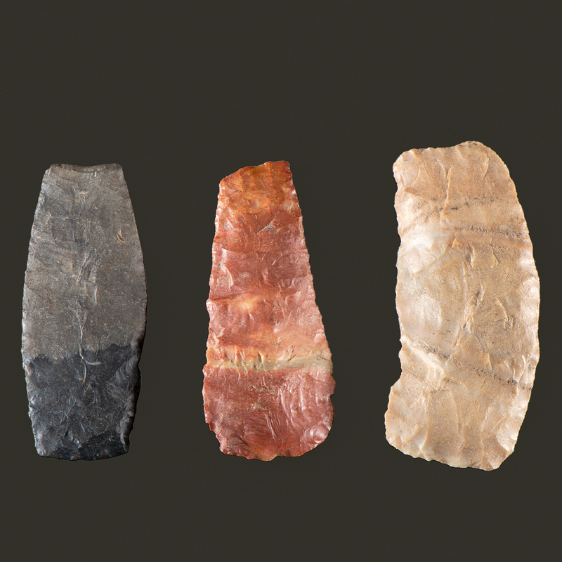 Three Square Knives,  From the Collection of Jon Anspaugh, Wapakoneta, Ohio