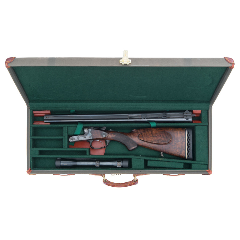 ** Stahl & Berger German Side-by-Side Rifle with Scope