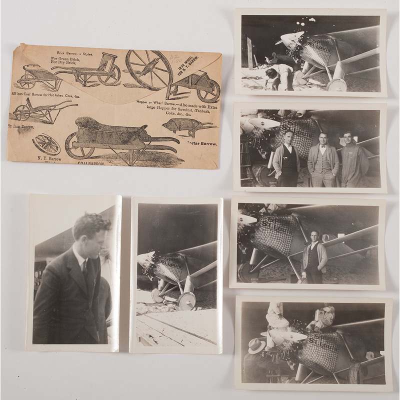 Charles Lindbergh and the Spirit of St. Louis, Group of Six Unpublished Snapshots