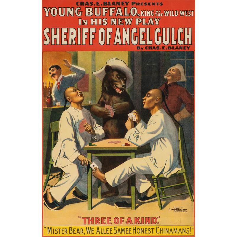 Young Buffalo, Theatrical Poster by Strobridge Litho Co., Cincinnati