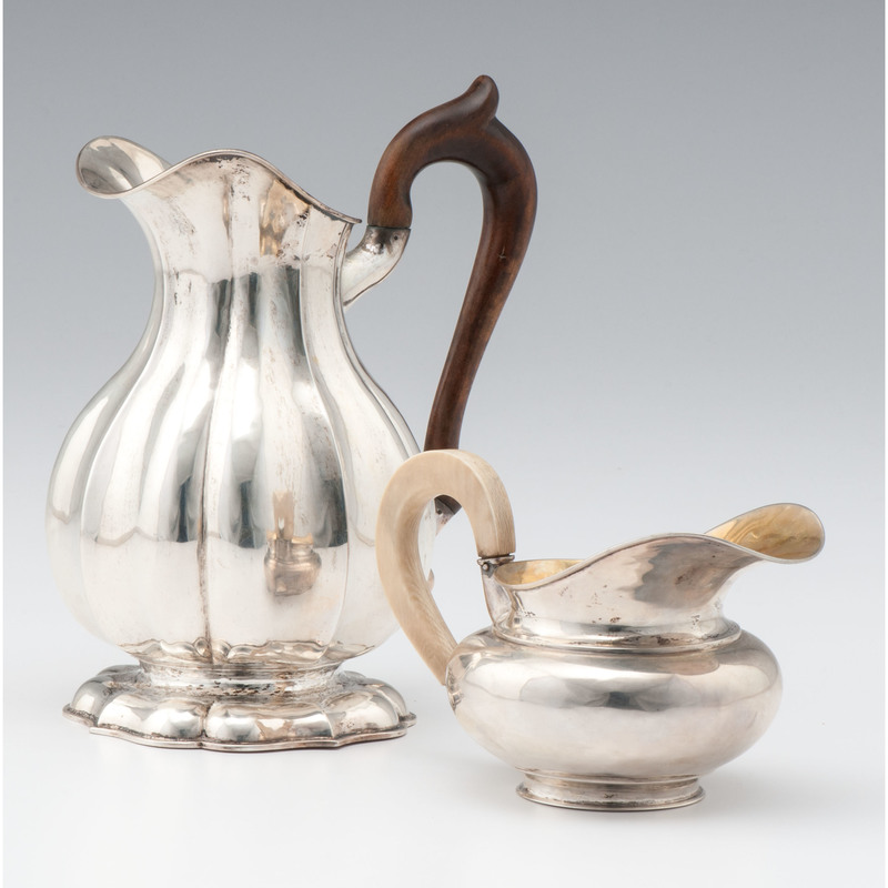 Austrian Silver Pitcher and German Creamer
