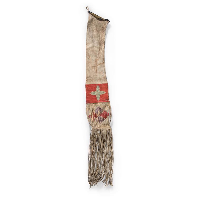 Mandan-Hidatsa Quilled Deer Hide Tobacco Bag