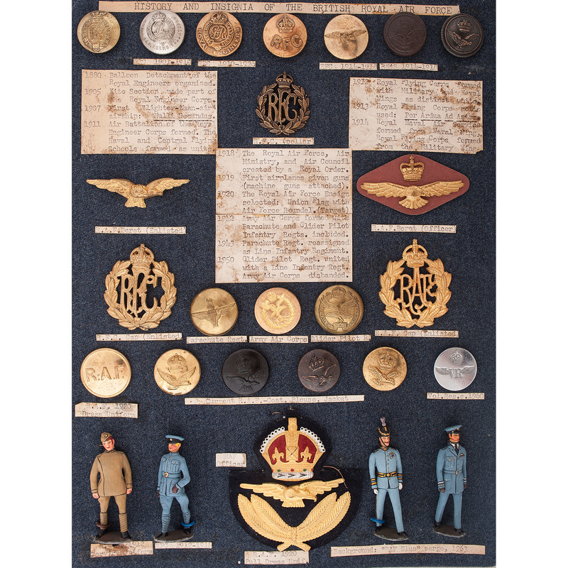 British Royal Air Force Insignia, Buttons, and More