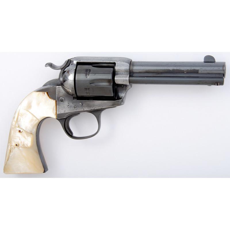 ** Colt Bisley Revolver with Carved Pearl Longhorn Grips
