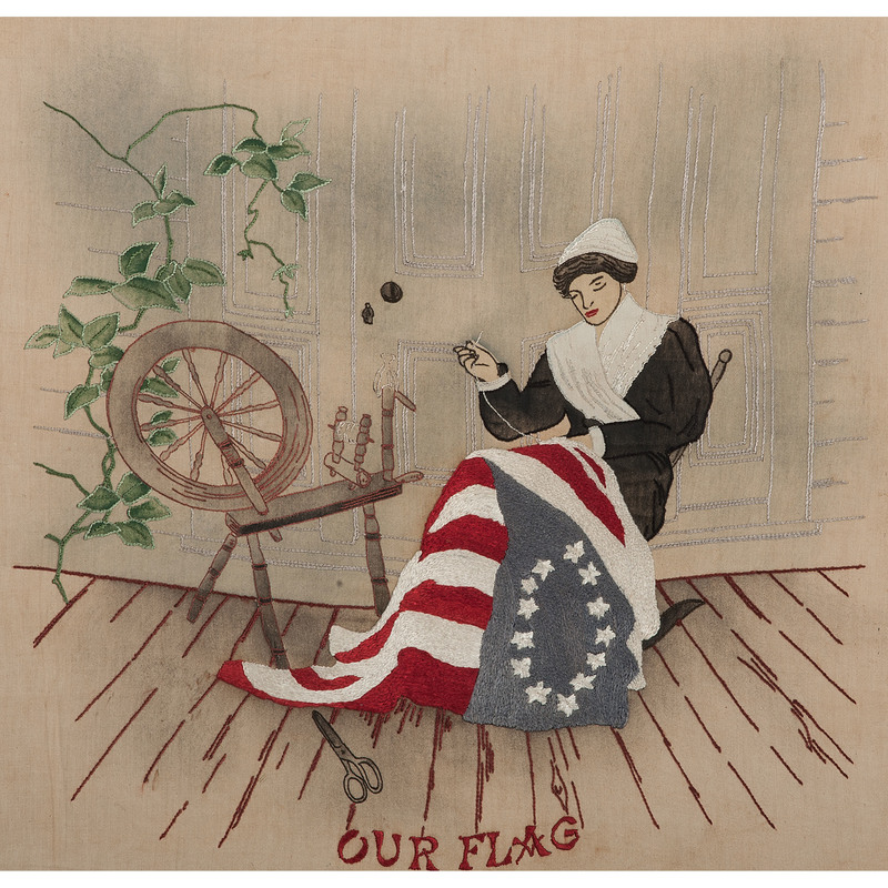 Patriotic Betsy Ross Our Flag Textile