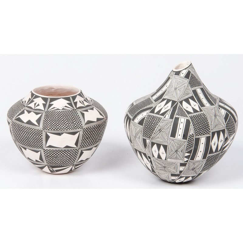 June Pino (Acoma, 20th century) Black and White Pottery