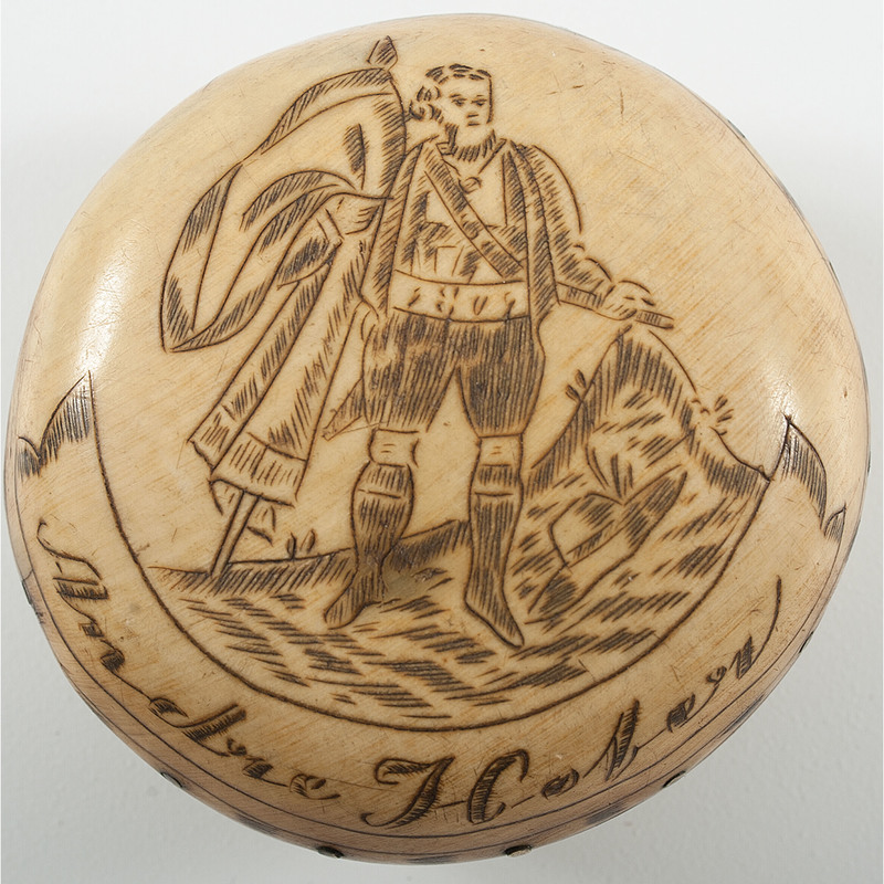 Napoleonic War-Period Snuff Box Created in Honor of Famed Tyrolean/Austrian Statesman and Army General Andreas Hofer who Thwarted Napoleon's Collective Armies