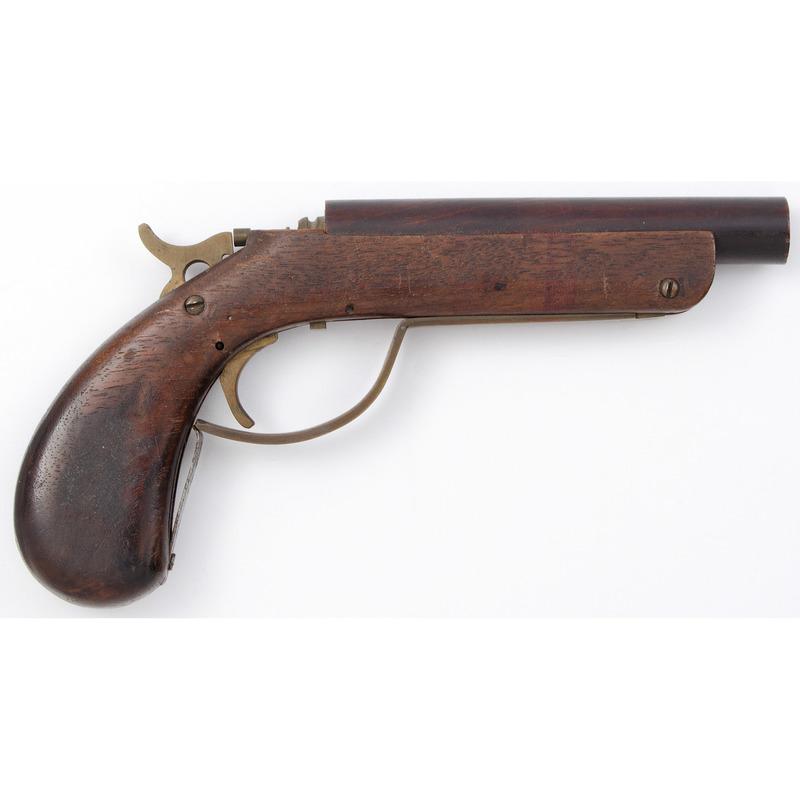Wood Patent Model Single Shot Pistol