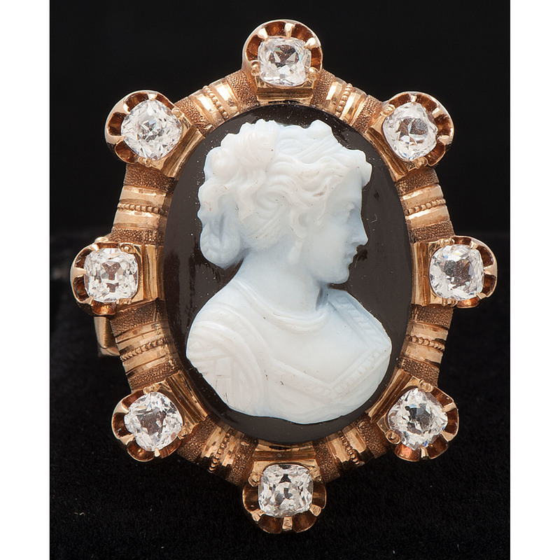 14k Gold Victorian Cameo Ring