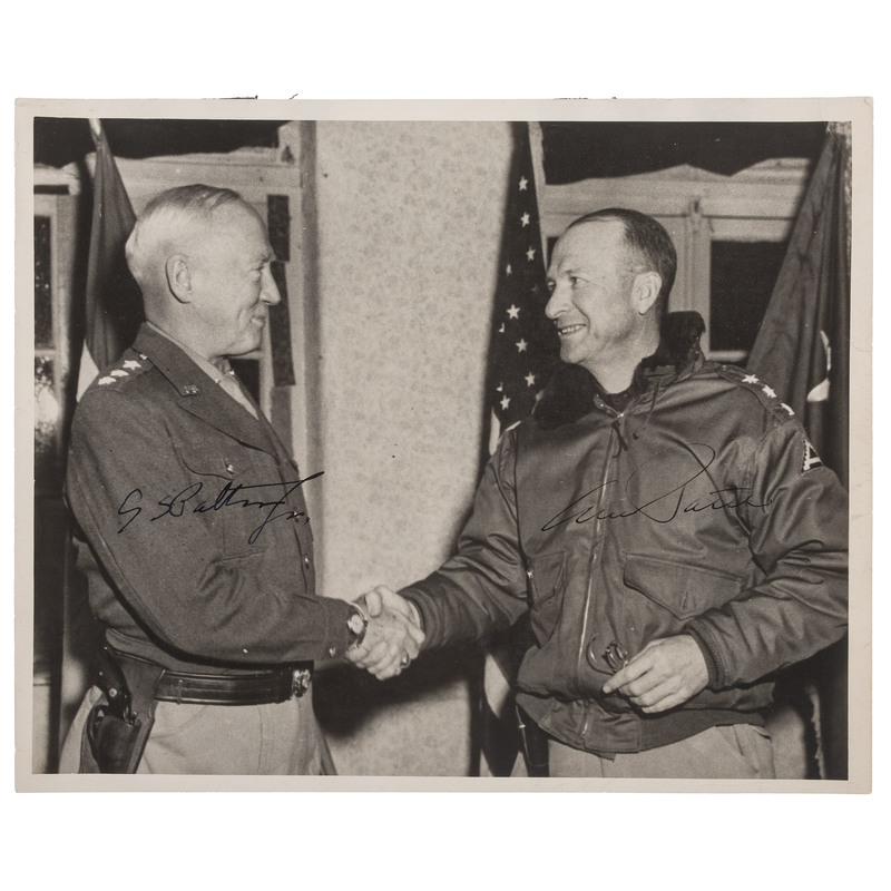 George Patton and Alexander Patch Signed Photograph
