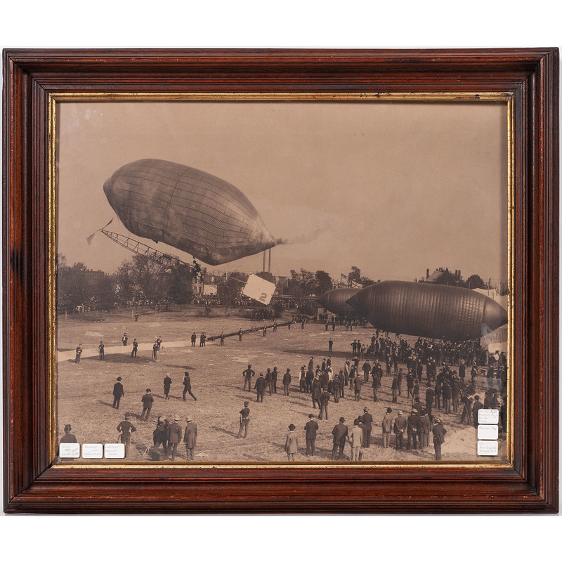 Photographic Enlargement of an Airship Exhibition in Lakehurst, New Jersey
