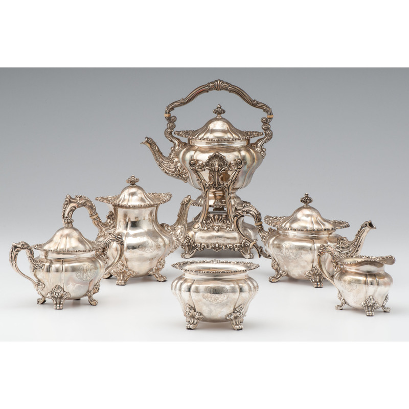 Durgin Sterling Six-Piece Tea and Coffee Service