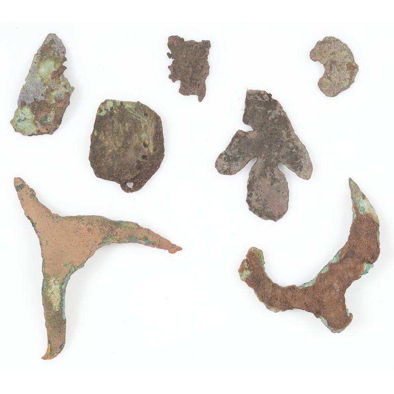 An Assortment of Old Copper Culture Ornaments, From the Collection of Roger