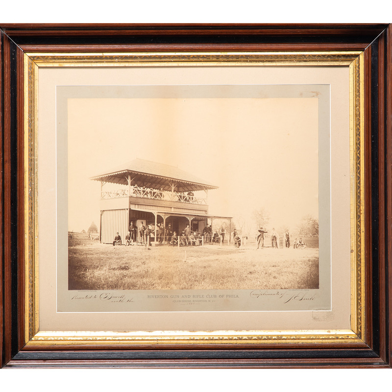 Fine Large Format Albumen Photograph of the Riverton Gun Club (New Jersey), 1880, by Broadbent & Taylor