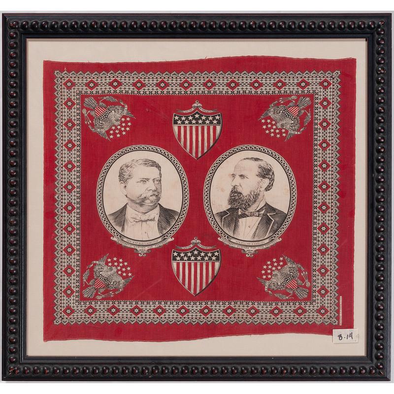 Hancock & English 1880 Jugate Campaign Bandanna