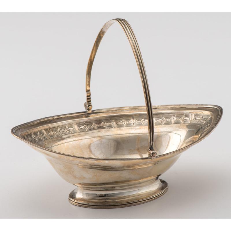 George III Sterling Sweetmeat Basket, Andrew Fogelberg