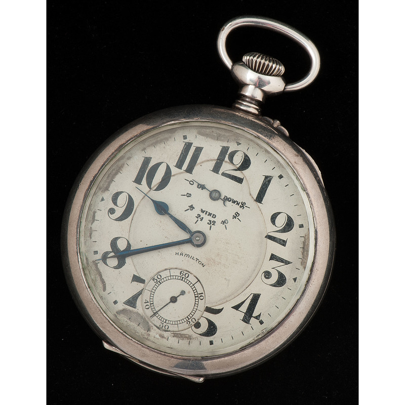 Hamilton WWI Torpedo Boat Watch in Sterling Silver Ca. 1918