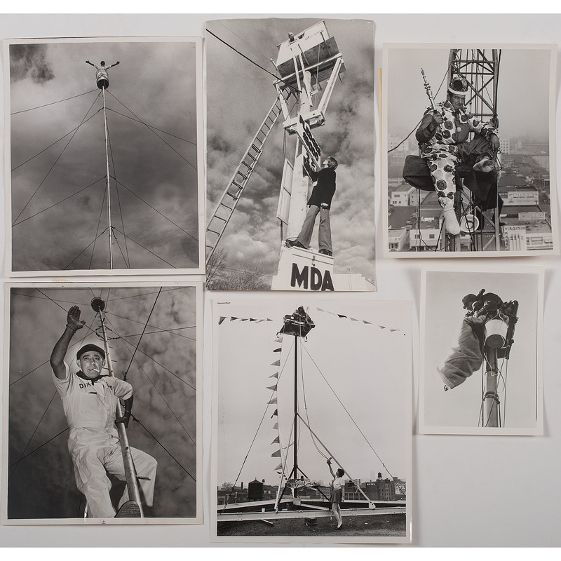 Flagpole Sitting Collection of Press Photographs, Lot of 48