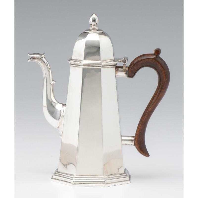 Contemporary English Sterling Coffee Pot