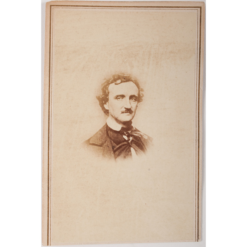 Rare Edgar Allan Poe CDV After Daguerreotype by William Pratt, Published by Black and & Case