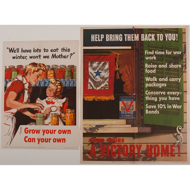 World War II Posters Aimed at the General Public, Lot of 6, Plus