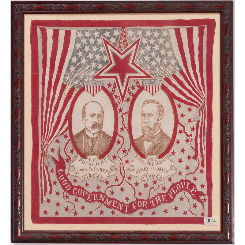 Parker & Davis 1904 Campaign Bandanna