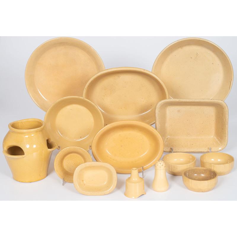 Yellowware Dishes and Vase