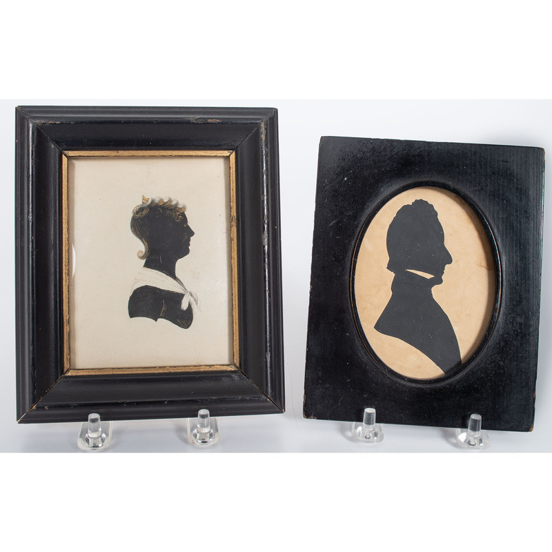 Silhouettes of a Man and Woman