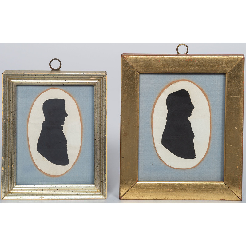 Cut Paper Silhouettes of Gentleman