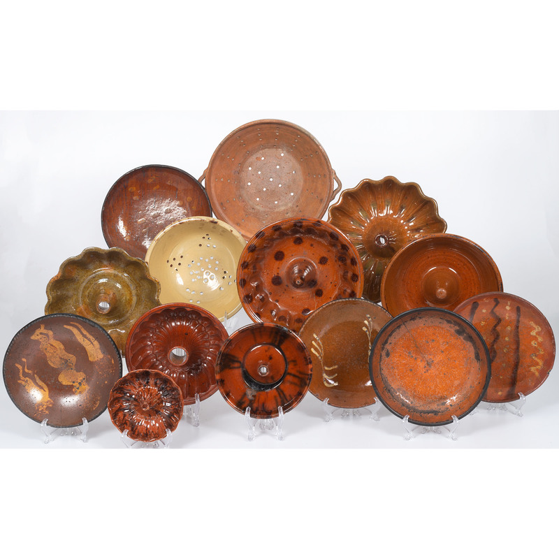 Redware Bundt Molds and Dishes