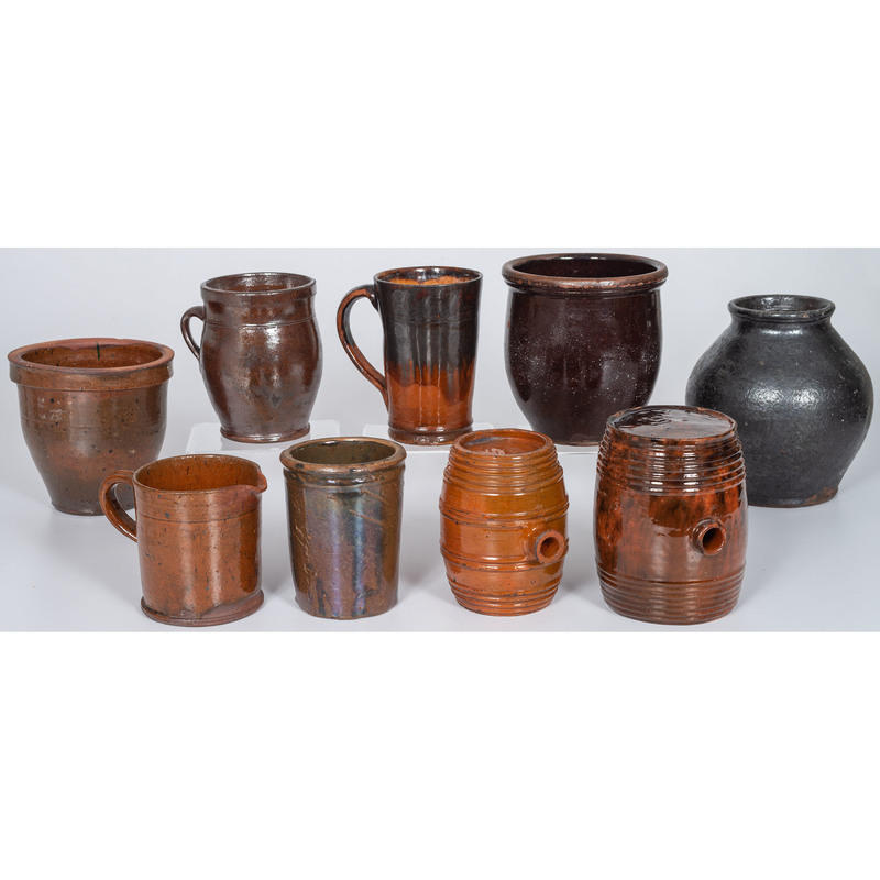 Redware Jars and Mugs