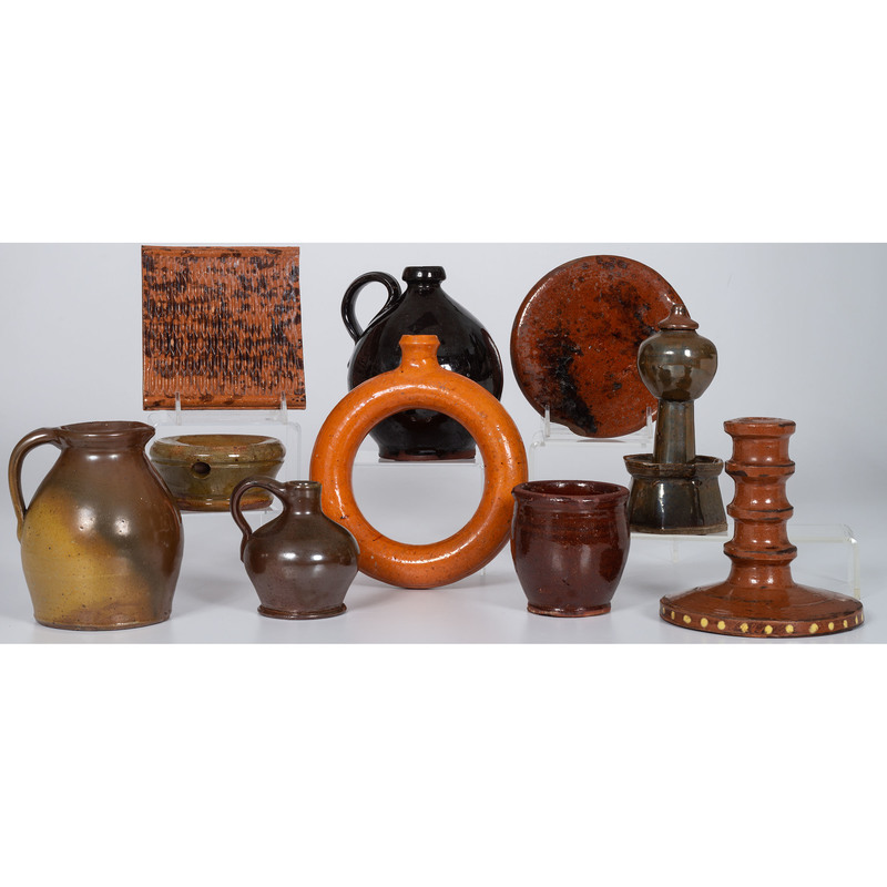 Redware Jugs, Trivets and Other Items