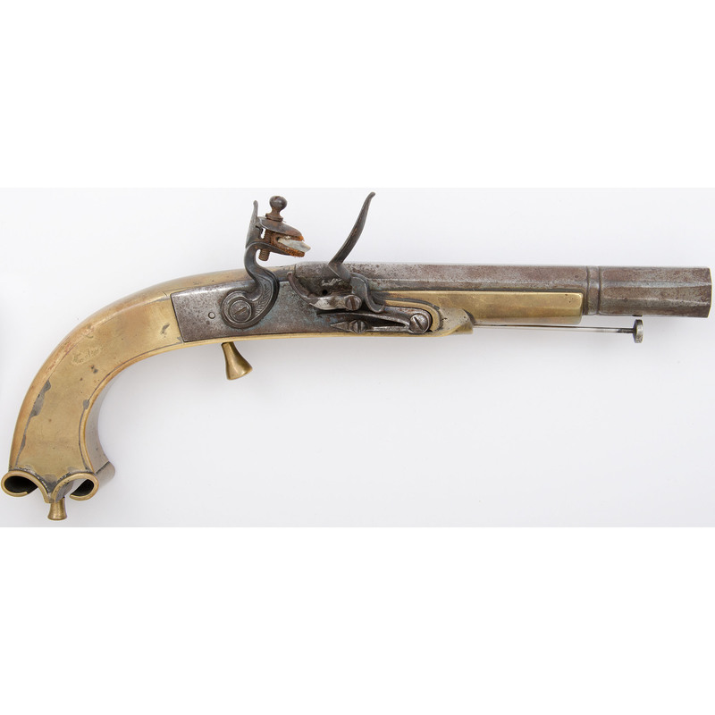Reproduction Scottish Ramhorn Flintlock Pistol