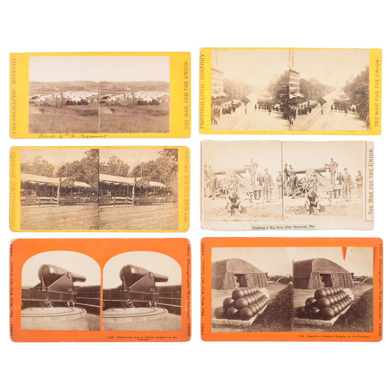 E. & H.T. Anthony and Taylor & Huntington Civil War Stereoviews, Incl. the Grand Review