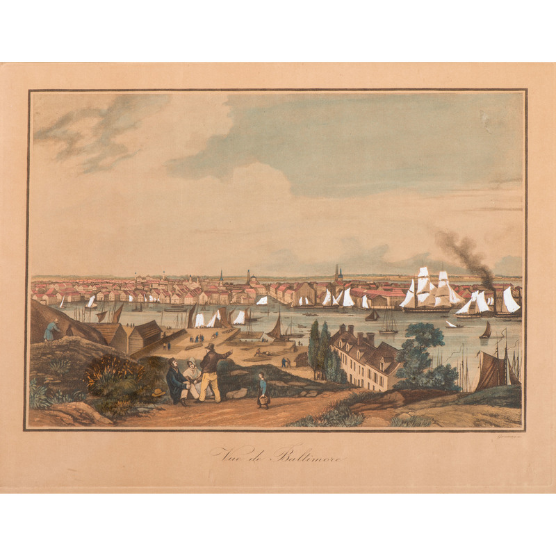 [Americana - Illustrated] Ambroise-Louis Garneray, Vue de Baltimore